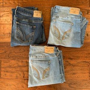 BUNDLE of 3 Hollister skinny jeans